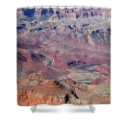 Grand Canyon South Rim Colors Shower Curtain