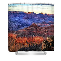 Shower Curtain featuring the photograph Grand Canyon Sunset by James Bethanis