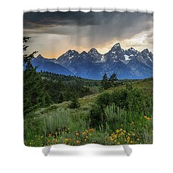 Grand Stormy Sunset Shower Curtain
