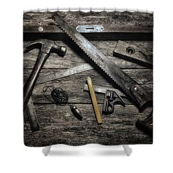 Shower Curtain featuring the photograph Granddad's Tools by Mark Fuller