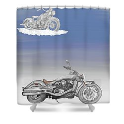 Shower Curtain featuring the drawing Grandson by Terry Frederick