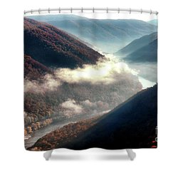 Grandview New River Gorge Shower Curtain by Thomas R Fletcher