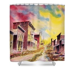 Granite Ghost Town Montana Shower Curtain by Kevin Heaney
