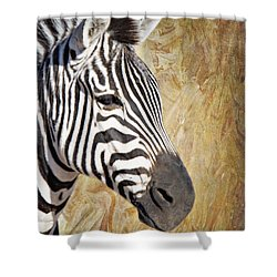 Grant's Zebra_a1 Shower Curtain