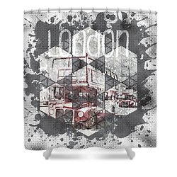 Graphic Art London Streetscene Shower Curtain by Melanie Viola
