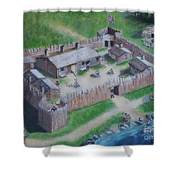 Great Lakes North Trading Post Shower Curtain