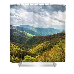 Great Smoky Mountains North Carolina Spring Scenic Landscape Shower Curtain