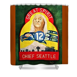 Great Spirit Seattle 12s Shower Curtain