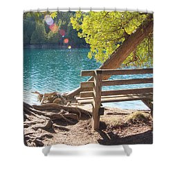 Green Lakes Shower Curtain