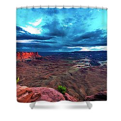 Green River Overlook Shower Curtain