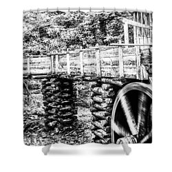 Shower Curtain featuring the photograph Grist Mill by Jay Stockhaus