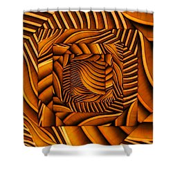 Shower Curtain featuring the digital art Groovy by Ron Bissett