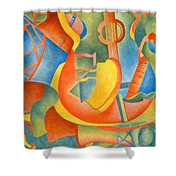 Grosse Guitare Shower Curtain