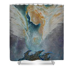 Angelic Encounters  Shower Curtain
