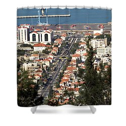 Shower Curtain featuring the photograph Haifa - The German Colony by Arik Baltinester