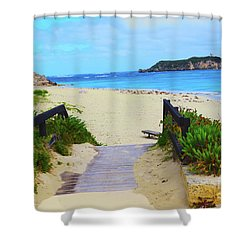 Hamelin Bay Shower Curtain by Cassandra Buckley
