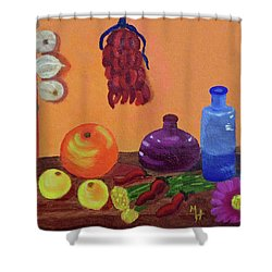 Hanging Around With Spices Shower Curtain