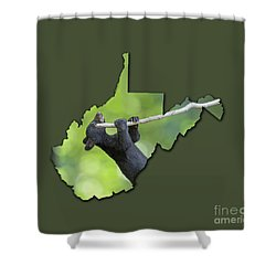 Shower Curtain featuring the photograph Hanging On by Dan Friend
