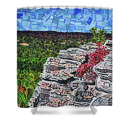 Hanging Rock State Park Shower Curtain by Micah Mullen