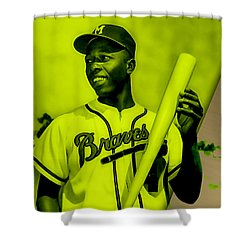 Hank Aaron Collection Shower Curtain by Marvin Blaine