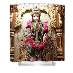 Hanuman Ji, Radha Gopinath Mandir, Mumbai Shower Curtain