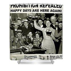 Happy Days Are Here Again Shower Curtain by Jon Neidert