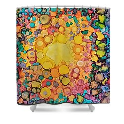 Happy Explosion Shower Curtain
