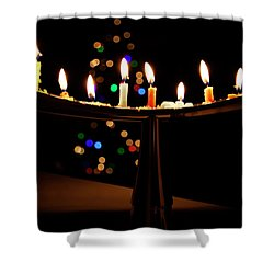 Shower Curtain featuring the photograph Happy Holidays by Susan Stone