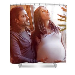 Happy Pregnancy Time Shower Curtain