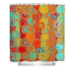 Happy Swirls Shower Curtain