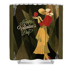Shower Curtain featuring the digital art Happy Valentines Day by Jeff Burgess