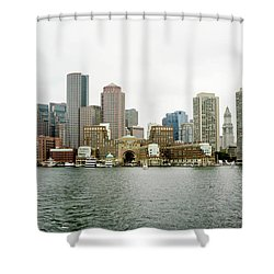 Harbor View Shower Curtain by Greg Fortier