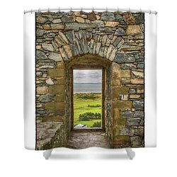 Harlech View Shower Curtain by R Thomas Berner