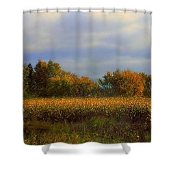 Harvest Shower Curtain by Elfriede Fulda