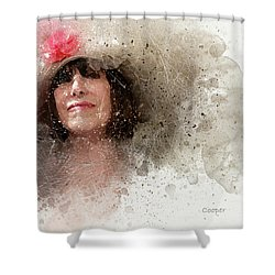 Hat With Rose Shower Curtain