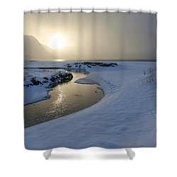 Haukland Beach, Lofoten Shower Curtain