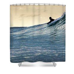 Hawaii Bodysurfing Sunset Polihali Beach Kauai  Shower Curtain