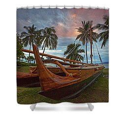 Hawaiian Sailing Canoe Shower Curtain