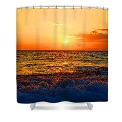 Hawaiian Sunset Shower Curtain by Michael Rucker