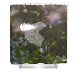 Shower Curtain featuring the photograph heART bubbles by Nora Boghossian