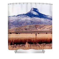 Heart Mountain - Cody,  Wyoming Shower Curtain