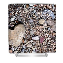 Heart Of Stone Shower Curtain by Danielle R T Haney