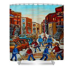 Heat Of The Game Shower Curtain by Carole Spandau