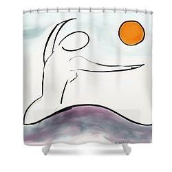 Hello Sunshine Shower Curtain by Haleh Mahbod