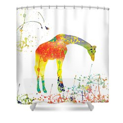 Shower Curtain featuring the digital art Hello by Trilby Cole