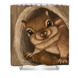 Shower Curtain featuring the painting Hello by Veronica Minozzi