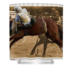 Helluva Rodeo-the Ride 6 Shower Curtain