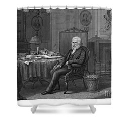 Henry Wadsworth Longfellow Shower Curtain by Granger