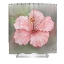 Shower Curtain featuring the painting Hibiscus  by Bonnie Willis