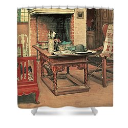 Hide And Seek Shower Curtain by Carl Larsson